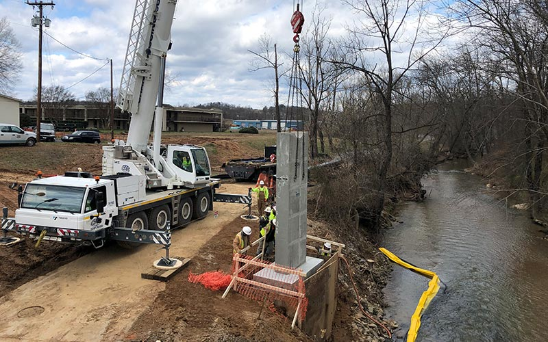 Browns Ford Waterline   Sanford Contractors